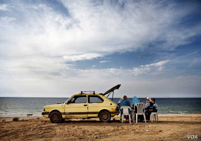 """Tanya Habjouqa, Untitled, from the series """"Women of Gaza,"""" 2009; Pigment print, 20 x 30 in.; Museum of Fine Arts, Boston; Museum purchase with general funds and the Horace W. Goldsmith Fund for Photography, 2013.567 (Photo © 2015 Museum of Fine ..."""
