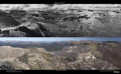 Windy Peak Comparison 1934 (top) and 2014 (bottom).