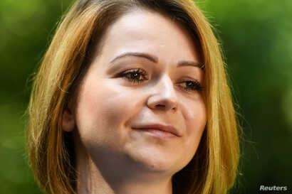 Yulia Skripal, who was poisoned in Salisbury along with her father, Russian spy Sergei Skripal, speaks to Reuters in London, Britain, May 23, 2018.  REUTERS