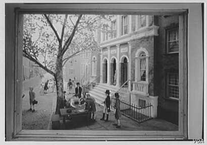 Museum of the City of New York, 104th St. and 5th Ave., New York City. Stock Exchange, Buttonwood diorama. (courtesy of the Gottscho-Schleisner Collection at the Library of Congress)