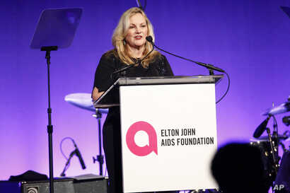 """Patricia Hearst attends the Elton John AIDS Foundation's 17th annual """"An Enduring Vision"""" benefit gala at Cipriani 42nd Street in New York, Nov. 5, 2018."""