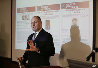 San Francisco Division FBI Special Agent in Charge Jack Bennett during a news conference about a Yahoo security breach March 15, 2017, in San Francisco.