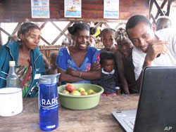 Some Malagasy learn about RARE efforts to preserve the oceans