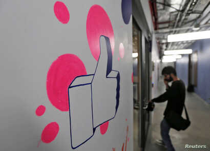 FILE - Facebook opened a new office in New Delhi, India, in May.