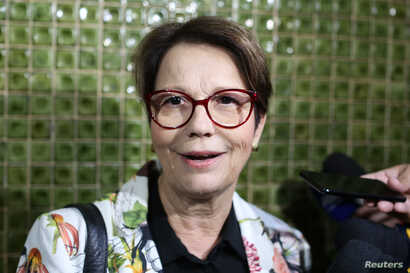 Brazilian Deputy Tereza Cristina Correa da Costa Dias, who was appointed to the Ministry of Agriculture by Brazilian president-elect Jair Bolsonao, leaves her home in Brasilia on Nov. 8, 2018.