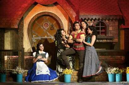 """A scene from """"The Beauty and the Beast"""" Broadway show being staged by Disney in India."""