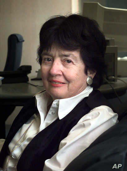 FILE - This Feb. 15, 2000 file photo shows Judge Patricia Wald in The Hague.