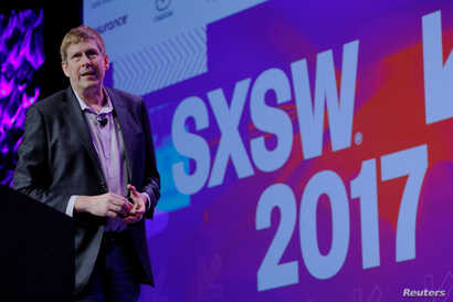 Chief Programming Officer Hugh Forrest opens the South by Southwest (SXSW) Music Film Interactive Festival 2017 in Austin, Texas, March 10, 2017.