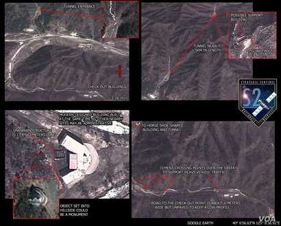 An overview of the suspected missile launch site, as shown on satellite imagery. (Strategic Sentinel)