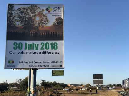 On July 30, Zimbabweans are to decide their future in an election run by the country's election body, which the opposition accuses of favoring the ruling Zanu PF party. Photo taken July 23, 2018, in Harare.