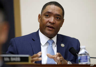 FILE - Rep. Cedric Richmond, D-La., speaks during a House Judiciary Committee hearing on Capitol Hill, Nov. 14, 2017.