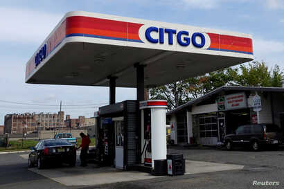 FILE - A Citgo gas station is pictured in Kearny, New Jersey, US.