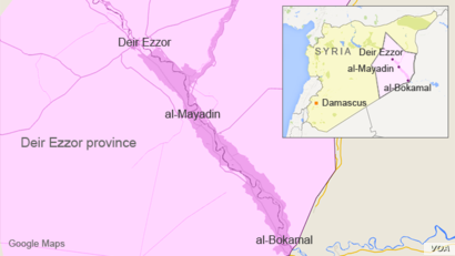 Deir Ezzor province, with al-Bokamal and al-Mayadin