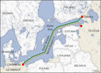Nord and Nord 2 pipelines