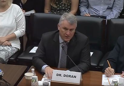 Hudson Institute analyst Michael Doran testifies at a July 17, 2018, House national security subcommittee hearing about why he thinks it is in the U.S. interest to recognize Israeli sovereignty in the Golan Heights.