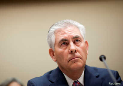 FILE - Rex Tillerson, chairman and CEO of ExxonMobil, testifies about the company's acquisition of XTO Energy before the House Energy and Environment Subcommittee on Capitol Hill in Washington .
