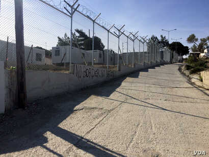 Once a refugee camp, this center now detained newly arrived people. Aid organizations have left the camp, saying they don't want to be complicit in treating people inhumanely in Lesbos, Greece, April 2, 2016.