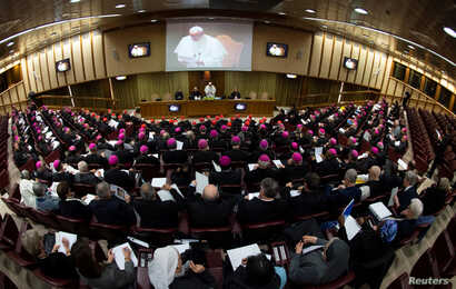 Pope Francis attends the four-day meeting on the global sexual abuse crisis, at the Vatican, Feb. 21, 2019.