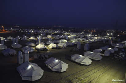 FILE - A view of the Arbat refugee camp in the northern Iraqi province of Sulaimaniya.