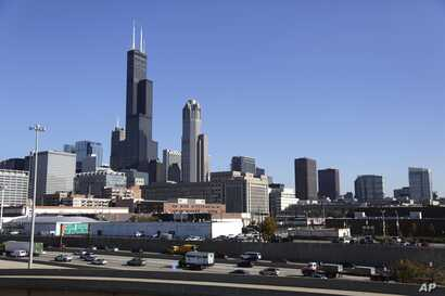 FILE — Once the world's tallest building the 110-story Sears Tower, is now known as the Willis Tower, Nov. 7, 2013.