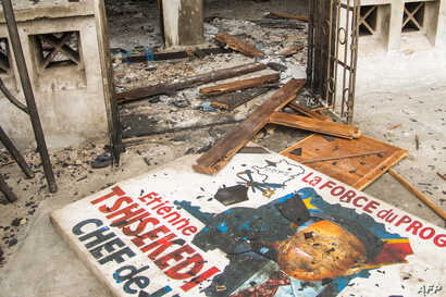 The Kinshasa offices of the opposition party Union for Democracy and Social Progress (UDPS) party was burned September 19-20, 2016. At least two bodies were seen in the fire-ravaged offices, while two other people were burned alive and one person inj...