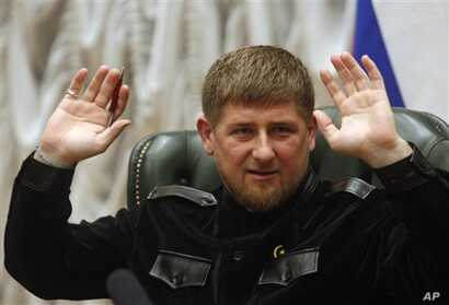 Chechnya regional leader Ramzan Kadyrov speaks during a news conference in Grozny, March 7, 2011