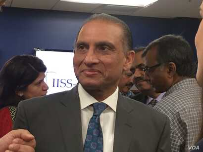 Aizaz Ahmad Chaudhry, Pakistan's ambassador to the United States, speaks at an event in Washington, July 26, 2017.