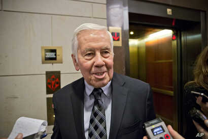 Sen. Richard Lugar, R-Ind., the ranking member of the Senate Foreign Relations Committee, at the U.S. Capitol in Washington, Nov. 13, 2012.