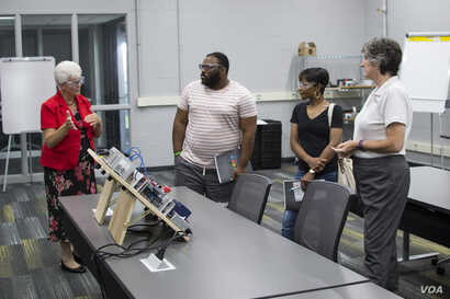 Prospective students receive a guided tour of Northwest State Community College's Advanced Manufacturing Training Center in Toledo, Ohio.
