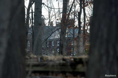 A Russian compound, which was ordered to be closed and vacated, is seen in Upper Brookville, Long Island,  New York, Dec. 30, 2016.