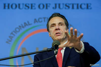 FILE - New York Gov. Andrew Cuomo (D-N.Y.) speaks in the Harlem borough of New York City, New York, Jan. 15, 2018.