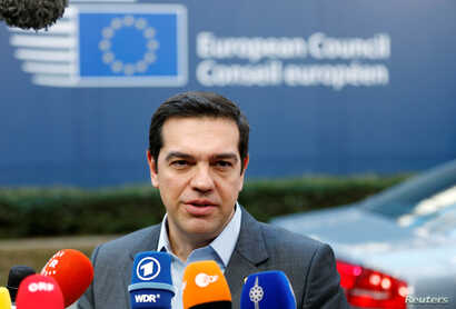 Greece's Prime Minister Alexis Tsipras arrives at a European Union leaders summit in Brussels, Belgium, Dec. 15, 2016.