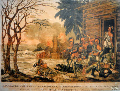 An 1813 painting by John Blake White that many believe was used as a propaganda tool. The well-regarded artist painted many works depicting military scenes from the War of 1812.