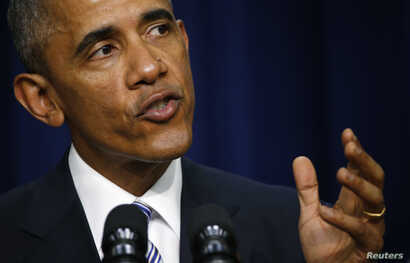 President Barack Obama speaks in Washington at the White House Summit on Countering Violent Extremism, Feb. 18, 2015.