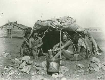 This 1898 photo by Jesse Hastings Bratley shows a group of Sicangu Lakota men in a sweat lodge, covering raised. Likely taken at Rosebud Reservation, South Dakota. Negative 53401 A, National Anthropological Archives, Smithsonian Institution, Washingt...