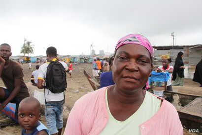 Marta Cowla lives in West Point, one of the poorest districts in Monrovia, Liberia, Sept. 25, 2014.  (Benno Muchler /VOA)
