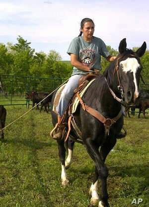 Lakota rancher Alex Romero-Frederick is concerned about the future of family ranching.