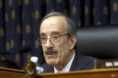 House Foreign Affairs Committee Chairman Rep. Eliot Engel D-N.Y., speaks during the House Foreign Affairs subcommittee hearing on Venezuela at Capitol Hill in Washington, Feb. 13, 2019.