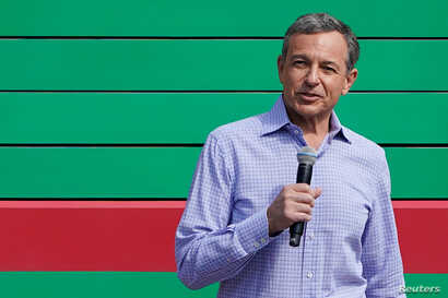 Disney's Chief Executive Officer Bob Iger attends the opening event of Disney-Pixar Toy Story Land, the seventh themed land in Shanghai Disneyland in Shanghai, China, April 26, 2018.