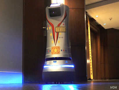 """Many hotels have given their delivery robots names. The Renaissance Las Vegas Hotel calls its two delivery robots Elvis and Priscilla after the """"King of Rock and Roll"""" Elvis Presley and his former wife."""