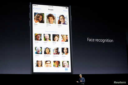 Craig Federighi, Senior Vice President of Software Engineering for Apple Inc., talks about face recognition with iOS at the company's World Wide Developers Conference in San Francisco, California, U.S. on June 13, 2016.
