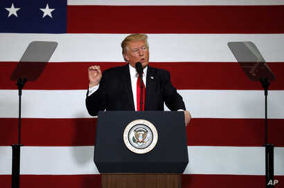 President Donald Trump delivers remarks on tax reform at the Loren Cook Company in Springfield, Mo., Aug. 30, 2017.