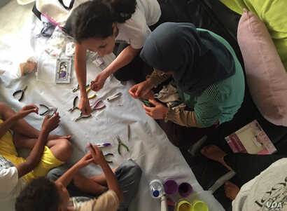 Kayra Martinez works with refugees in her home in northern Greece. (Courtesy photo)