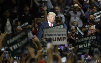 Republican presidential candidate Donald Trump speaks during a rally, in Fresno, Calif., May 27, 2016.