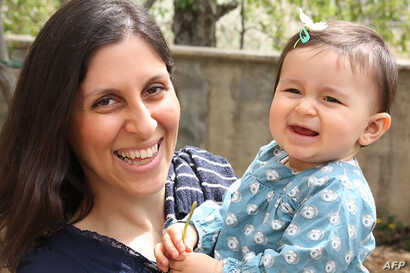 FILE - An undated handout image shows Nazanin Ratcliffe and her daughter, Gabriella.