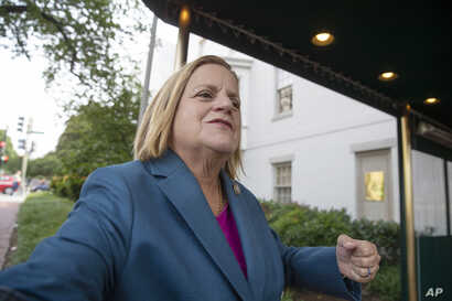 Rep. Ileana Ros-Lehtinen, R-Fla., arrives for a closed-door GOP meeting on Capitol Hill in Washington,  June 13, 2018.