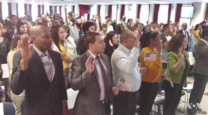 One hundred immigrants, representing 31 countries across four continents, graduated as U.S. citizens, joining the ranks of 680,000 others every year in New York and cities around the country.