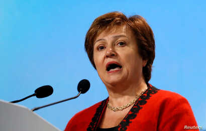 World Bank CEO Kristalina Georgieva addresses during the opening of COP24 UN Climate Change Conference 2018 in Katowice, Poland, Dec. 3, 2018.