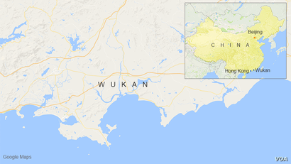 Wukan, China, map