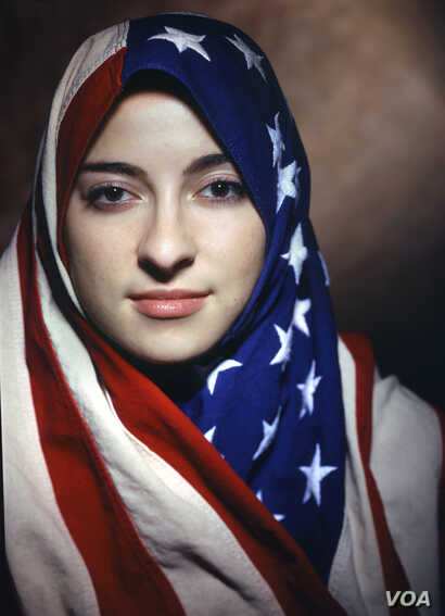 """Boushra Almutawakel, Untitled, from the series """"The Hijab,"""" 2001; Chromogenic print, 47 1/4 x 39 3/8 in. (Courtesy of the artist and the Howard Greenberg Gallery)"""